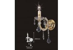 Arm chandelier lighting