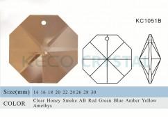 octagon crystal parts-(KC1051B)