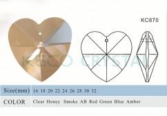 heart shape chandelier pendant-(KC870)
