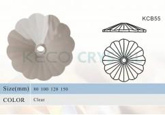 K9 crystal bobeches-(KCB55)