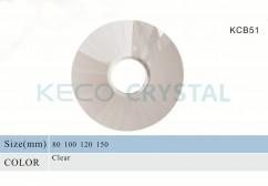 big hole crystal bobeches-(KCB51)