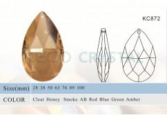 Crystal drops, crystal almond cut drops -(KC872)