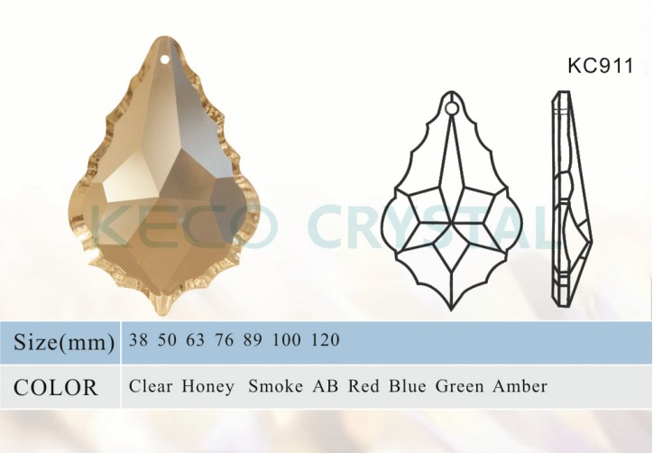 K9 material maple leaf chandelier parts-(KC911)