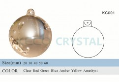 round hang glass ball for chandeliers-(KC001)