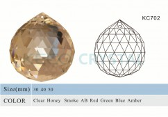 240 facets glass ball for crystal chandelier-(KC002)