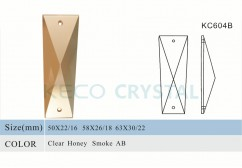 trapezoid shape crystal prisms for chandeliers-(KC604B)
